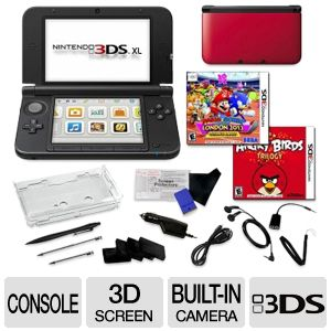 Nintendo 3DS XL 3D Screen 2 Games Bundle