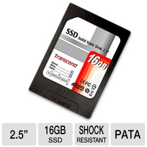 "Transcend 2.5"" 16GB PATA Solid State Hard Drive"