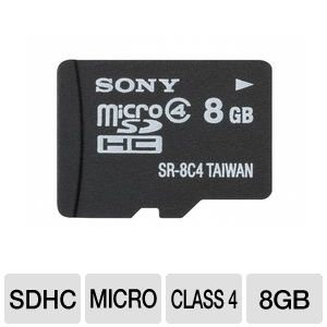Sony 8GB Class 4 MicroSDHC Flash Card