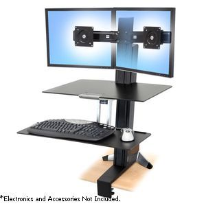 Alternate view 1 for Ergotron® WorkFit-S Stand Workstation - 33-349-200