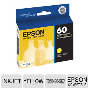 Epson Yellow Ink Cartridge (Pack of 3)-T060420-SK2