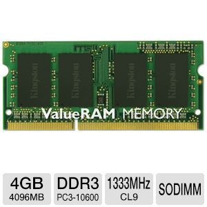 Kingston ValueRAM 4GB Notebook Memory-KVR13S9S8/4