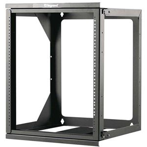 C2G 12U Hinged Wall Mount Open Frame Rack - 18in