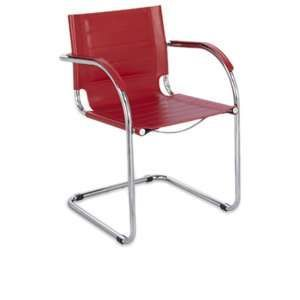 Flaunt™ Guest Chair Leather - Red