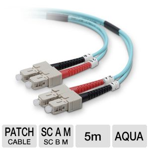 Belkin 5-Meter 10GB Fiber Optic Patch Cable