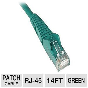 14FT CAT6 GRN GIGABIT-PATCH CORD SNAGLESS