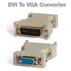 DVI-I to VGA Video Display Connector Adapter (M/F)