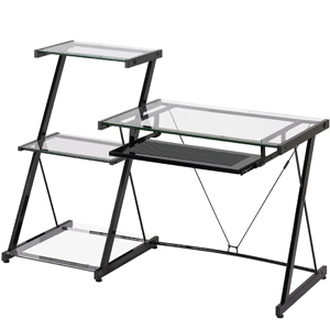 Z-Line ZL2021DBU Nero Desk and Bookcase