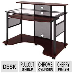 Z-Line Cyrus Cherry Finish w/Black Accents Desk
