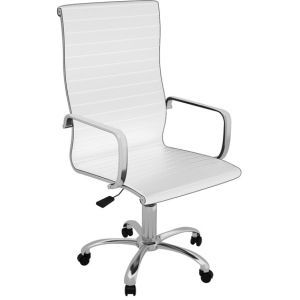 Z-Line High Back White Executive Chair