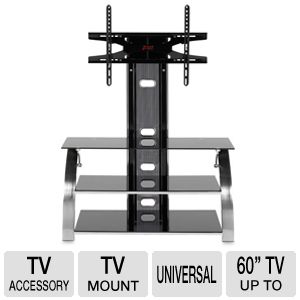 Z-Line Phantom Black Tempered Glass TV Mount