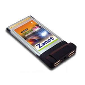 Zonet 2 Port USB 2.0 PCMCIA Cardbus with Cable