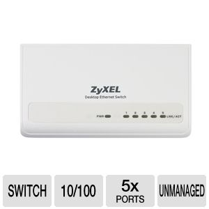 ZyXEL ES105S Desktop 5 Port Ethernet Switch