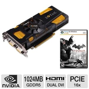 ZOTAC GTX 560 Ti OC Ed w/ Batman Arkham City Game