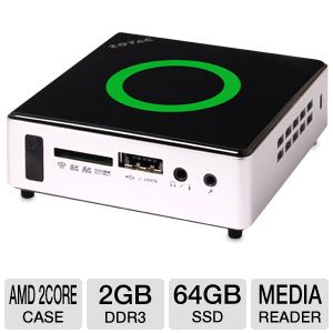 Zotac ZBOX nano AMD E-450 64GB HDD 2GB RAM Mini PC