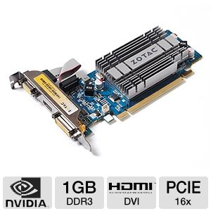 ZOTAC GeForce 8400 GS 1GB DDR3 PCIe Video Card