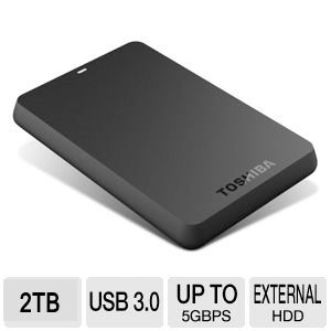 Toshiba Canvio Basics USB 3.0 2TB Portable HDD