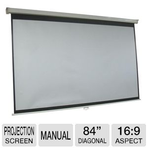 "Inland 84"" Diagonal 16:9 Manual Projection Screen"