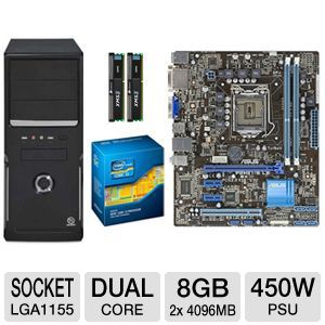 ASUS P8H61-M LE CSM REV3 DUAL CORE BUNDLE