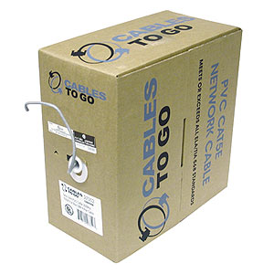 Cables To Go 1000-Foot Cat5e UTP Cable, Gray