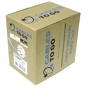 Cables To Go 500-Foot Roll Cat5e UTP Cable, Gray