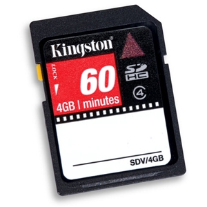 Kingston SDV/4GB 4GB SDHC Card