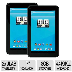 "JLAB Pro 7"" HD 8GB Android 4.4 Tablet - Buy one Get one Free"