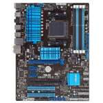 ASUS M5A97 R2.0 AM3+ Motherboard - ATX, Socket AM3+, AMD 970 Chipset, AMD FX, 2133MHz DDR3 (O.C.), SATA 6.0 Gb/s, RAID, 8-CH Audio, Gigabit LAN, USB 3.0, CrossFireX Ready