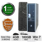 HP Compaq DC7900 Desktop PC - Intel Core 2 Duo 3.06GHz, 4GB DDR2 Memory, 160GB HDD, DVD, Windows 7 Professional 64-bit (Off-Lease) - RB-HPDT00310170