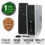 "HP Compaq 8200 Elite Series Desktop - Intel� Core� i5-2400 3.1 GHz, 8GB DDR3, 320GB 7.2k RPM SATA II 3Gb/s 2.5"" HDD, Intel� HD Graphics, Win 7 Pro 64-bit - Refurbished - RB-715007671770"