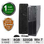 Lenovo M91P Desktop PC - Intel Core i5 3.1GHz,  8GB DDR3, 320GB HDD, DVD, Windows 7 Pro 64 bit (Refurbished) - RB-715007671817