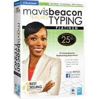 MAVIS BEACON TEACHES TYPING PLATINUM - 25TH ANNIVE