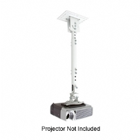 "Atdec THWHPJCM Universal Projector Ceiling Mount with 15""-35"" Extension - White"