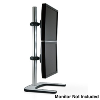 "Atdec V-FS-DV Dual Vertical Mount for up to 24"" LCDs - Silver"