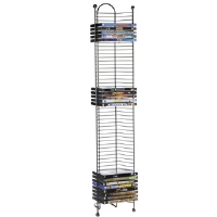 Atlantic 63712035 Nestable 52 DVD or BDR Tower - GunMetal