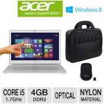 Acer Aspire S7 Core i5 128GB SSD 4GB RAM Ultrabook and Gear Head Wireless Nano Mouse and Eco Style Ultra Tech Lite Slimline Laptop Case Bundle