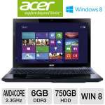 Acer Aspire Quad-Core, 6GB DDR3, 750GB HDD, Windows 8 Laptop