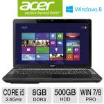 "Acer TravelMate TMP273-MG-6448 Notebook PC - 3rd generation Intel Core i5-3230M 2.6GHz, 8GB DDR3, 500GB HDD, DVDRW, 2GB NVIDIA GeForce 710M, 17.3"" Display, Windows 7 Pro / Windows 8 Pro 64-bit (NX.V89"