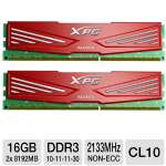 ADATA XPG Xtreme Series AX3U2133XW8G10-2X 16GB Desktop Memory Module Kit - DDR3, 2 x 8GB, 2133MHz, CL10