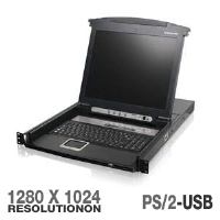 "IOGEAR GCL1808 8-Port 17"" LCD Combo KVM Switch"