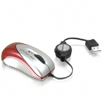 Iogear Optical Mini Mouse with Retractable Cable