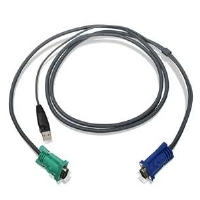 Iogear G2L5202U 6ft USB KVM Cable - 6 FT, 15 pin HDB Male To USB Type A Male/15 pin HDB Male