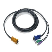 Iogear G2L5203P 10ft PS/2 KVM Cable - 10 FT, 15 pin HDB Male To 2x 6 pin mini-DIN Male/15 pin HDB Male
