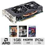 Sapphire Radeon HD 7850 11200-16-20G Video Card - 1GB GDDR5, PCI-Express 3.0 (x16), 1x Dual-Link DVI-D, 1x Dual-Link DVI-I, 1x DisplayPort, 1x HDMI, DirectX 11, Dual-Slot, Fan