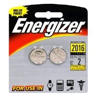 Energizer 2016 Lithium 3V Batteries - 2 Pack, Watch/Electronic