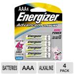 Energizer EA92BP4 AAA Advanced Lithium Battery - 4-Pk