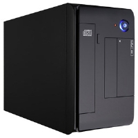"Apex MI-008 Case - Mini ITX, 5.25"" or 3.5"", USB 2.0, 250W, Black"