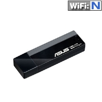 ASUS USB-N13 802.11n Network Adapter - USB, 300Mbps, Wireless-N, 2 on-board PCB Antenna - USB-N13