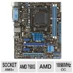 ASUS M5A78L-M LX PLUS AMD 760G Motherboard - Micro ATX, AMD 760G Chipset, 1866MHz DDR3 (O.C.), SATA 3.0 Gb/s, RAID, 8-CH Audio, Gigabit LAN, Hybrid CrossFire, AMD FX Ready