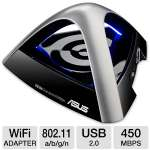 ASUS USB-N66 Dual-band Wireless-N900 USB Adapter - 450Mbps, USB 2.0, 802.11 a/b/g/n, Dual-Band